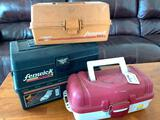 (3) Plastic Tackle Boxes & Contents