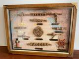 Framed Nautical Knots Display