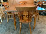 Wooden Drop Leaf Table W/(4) Chairs