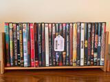 (29) DVD Movies In Wooden Holder