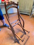 Civil War Era Carpet Bagger's Chair