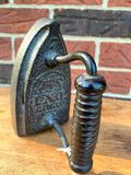 Antique Handled Sad Iron Marked