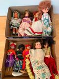 (10) Vintage Dolls From Around The World