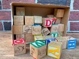 (39) Wooden 1960's Blocks