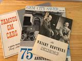 (3) Dayton, Ohio & Wright Brothers Pamphlets