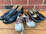 (3) Pair Of Vintage Shoes Incl.Girls Tap Shoes