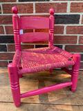 1960's Child's Chair W/Rush Seat