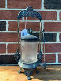 Nice Victorian Pickle Caster In Plated Frame W/Tongs
