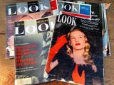 (8) 1940's-1970's Look Magazines