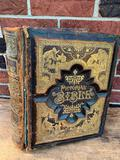 1870's Bible W/Embossed & Gilded Leather Cover