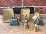 (7) Metal Bells Incl. Moler's Dairy From Dayton, Ohio