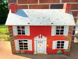 Vintage Tin Lithograph Doll House