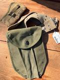 WW II Era Military Belt W/Hatchet Cover & Tool Cover