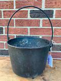 Antique Cast Iron #8 Gypsy Pot W/Bail