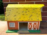 Vintage Marx Tin Lithograph Barn