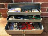 Vintage Falls City Tackle Box & Contents