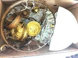 Victorian Hanging Light W/Shade-Missing Oil Fount