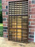 Wooden Typesetter's Tray