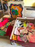 1968 Barbie Doll Trunk W/Clothes & Accessories