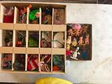 Group Of 60's Troll & Pee Wee Dolls + Assorted Clothes & Doll House Items