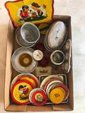 Group Of 1960's Tin Child's Cookware/Dinnerware