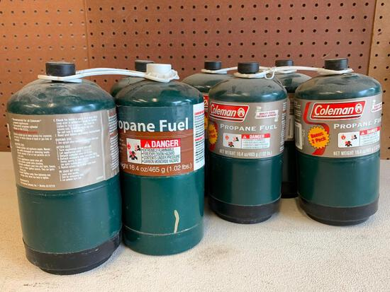 (8) Tanks Of Coleman, 1lb Propane Fuel