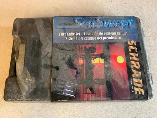 """Schrade """"Sea Swept"""" Filet Knife Set In Case"""