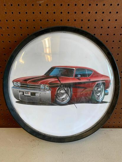 Battery Operated Chevelle Shop Clock