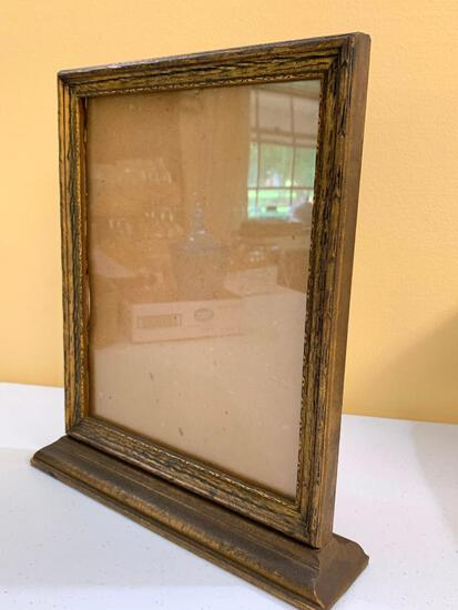 Vintage Wooden Picture Frame & Stand