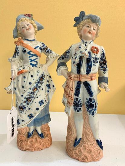 Bisque Couple In Period Clothing