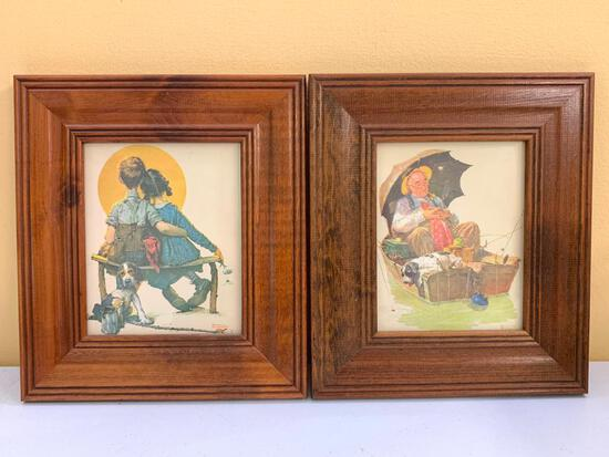 (2) Norman Rockwell Prints In Matching Frames