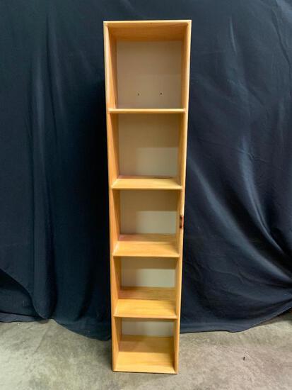 Pine Bookshelf with Painted White Backing