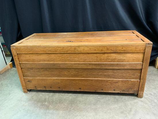 Antique Oak Trunk