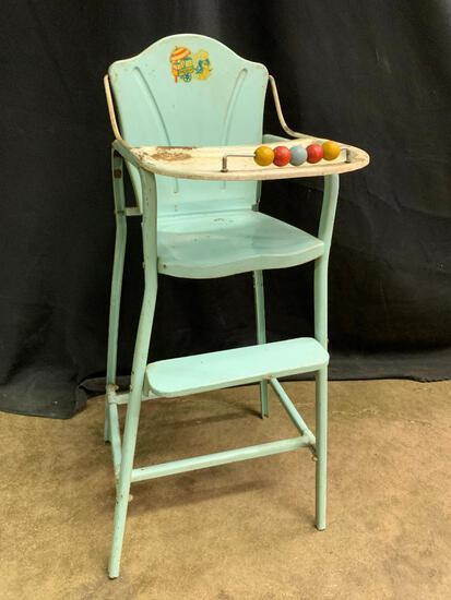 Vintage, Metal Doll High Chair