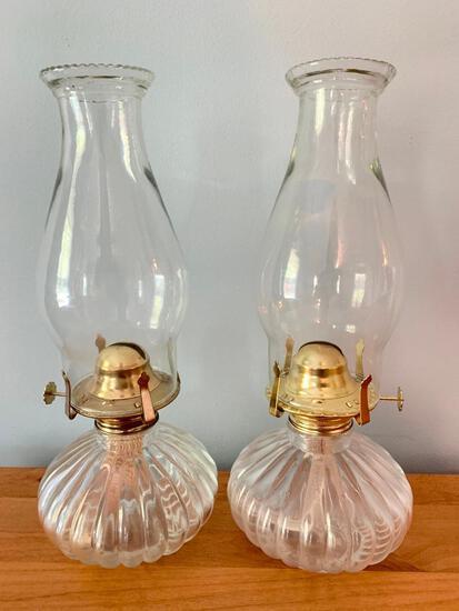 Three Contemporary Oil Lamps