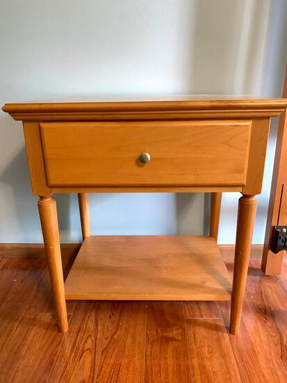 Pair of Kobel, Maple Solid Wood Night Stands