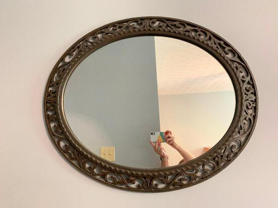 Large, Plastic, Oval Wall Mirror