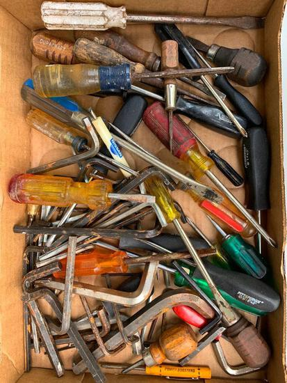Group of Screw Drivers and Allen Wrenches as Pictured