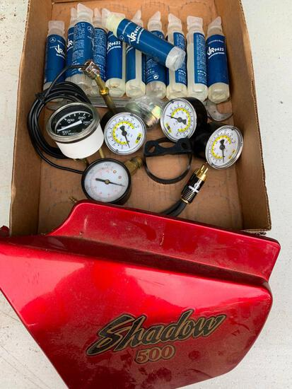 Gauges, Mercedes Summer Wash and Honda Shadow Cover