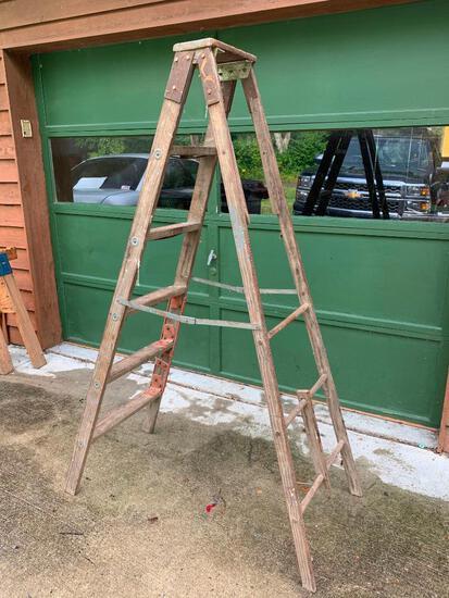 Vintage, 6 Foot Step Ladder