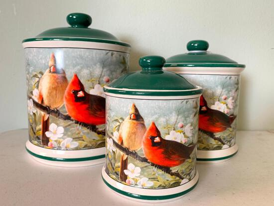 Hautman Brother, 2003, Cardinal, 3 Piece Canister Set