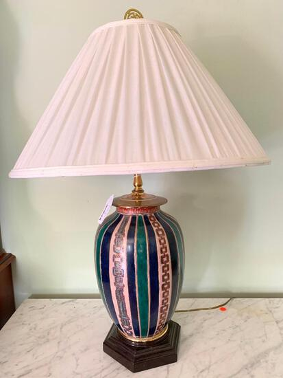 Nice, Painted Metal Lamp
