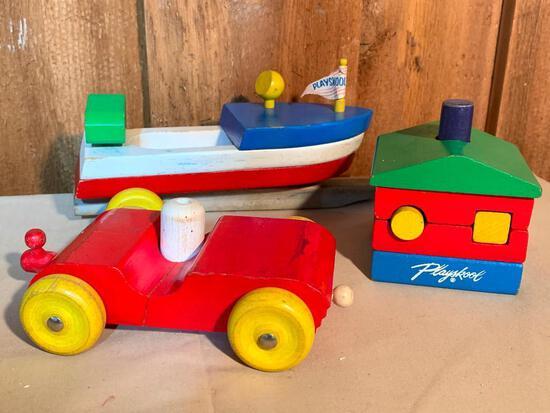 Vintage Playschool, Wood Toys