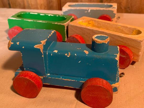 Vintage, Wood Train