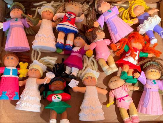"""Group of Cabbage Patch, Plastic Miniature Figures, 4"""" tall"""