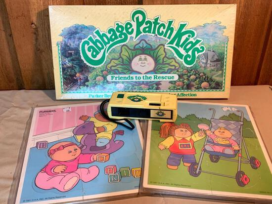 Cabbage Patch Kids Camera, Game and Two 1991 Puzzles