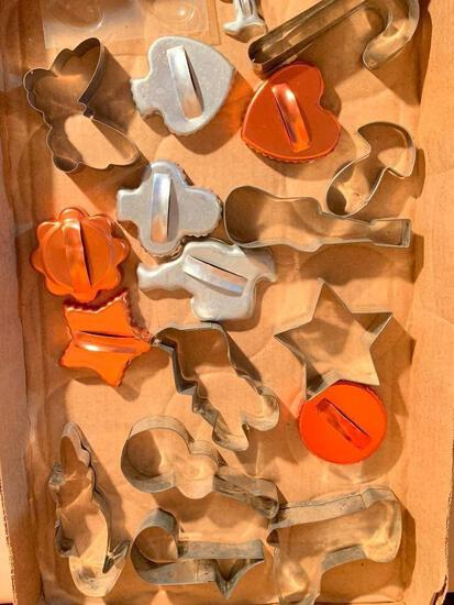Group of Metal Cookie Cutters