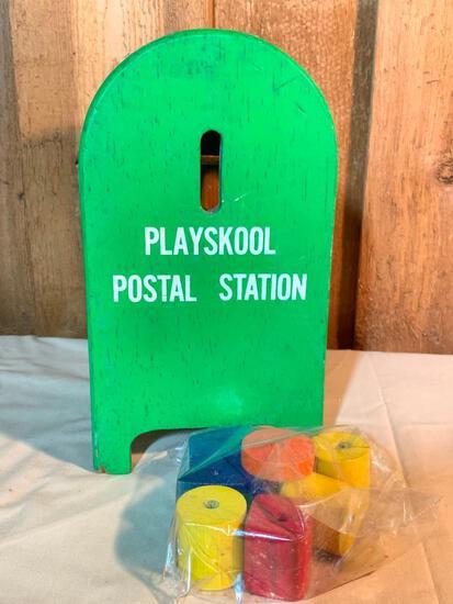 Vintage, Wood Playschool, Postal Station Mail Box