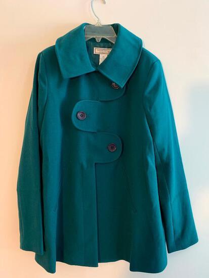 George Simonton Ladies Coat, XS, Teal