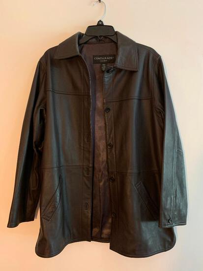 Centigrade Leather Ladies Coat, Size Small